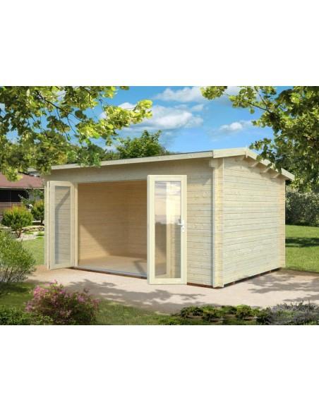 Abri De Jardin Ines 14.4 M² Avec Plancher - Serres-Et-Abris intérieur Abri De Jardin Avec Plancher