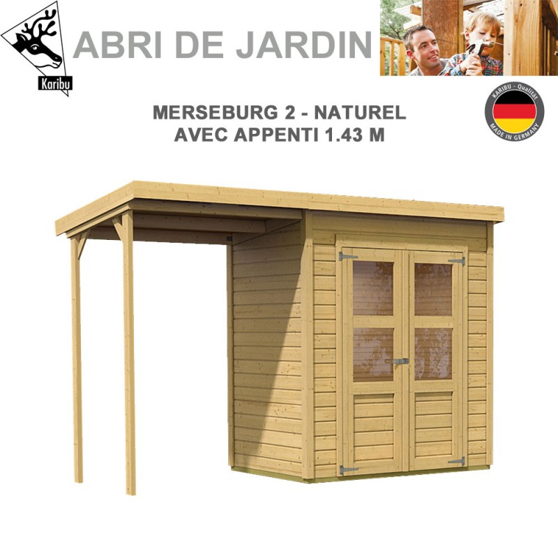 Abri De Jardin Merseburg 2 - 14Mm + Appenti encequiconcerne Abri De Jardin Discount