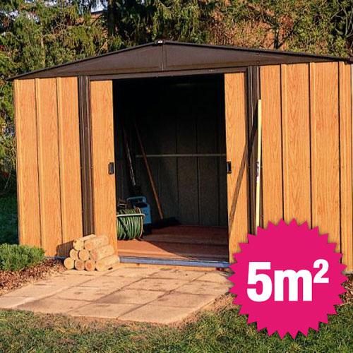 Abri De Jardin Metal Arrow 5M2 à Abri De Jardin Resine 5M2 Pas Cher