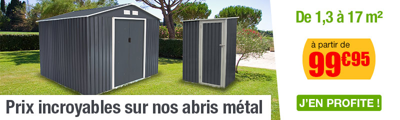 Abri De Jardin Metal Aspect Bois 12.99 M2 à Abri De Jardin Metal Pas Cher