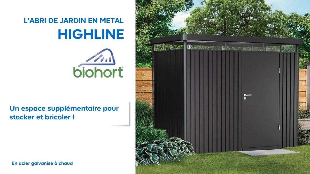 Abri De Jardin Métal High Line Biohort (638047) Castorama avec Abri De Jardin En Tole