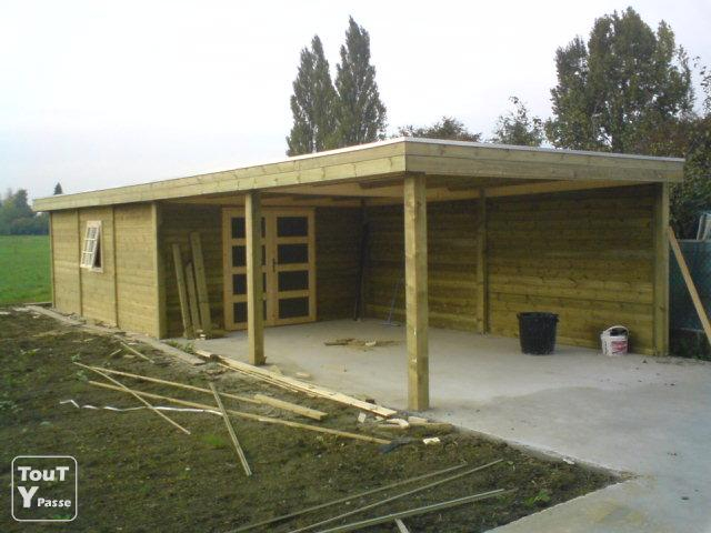 Abri De Jardin Moderne + Terrasse Couverte Rumes La tout Chalet De Jardin Belgique