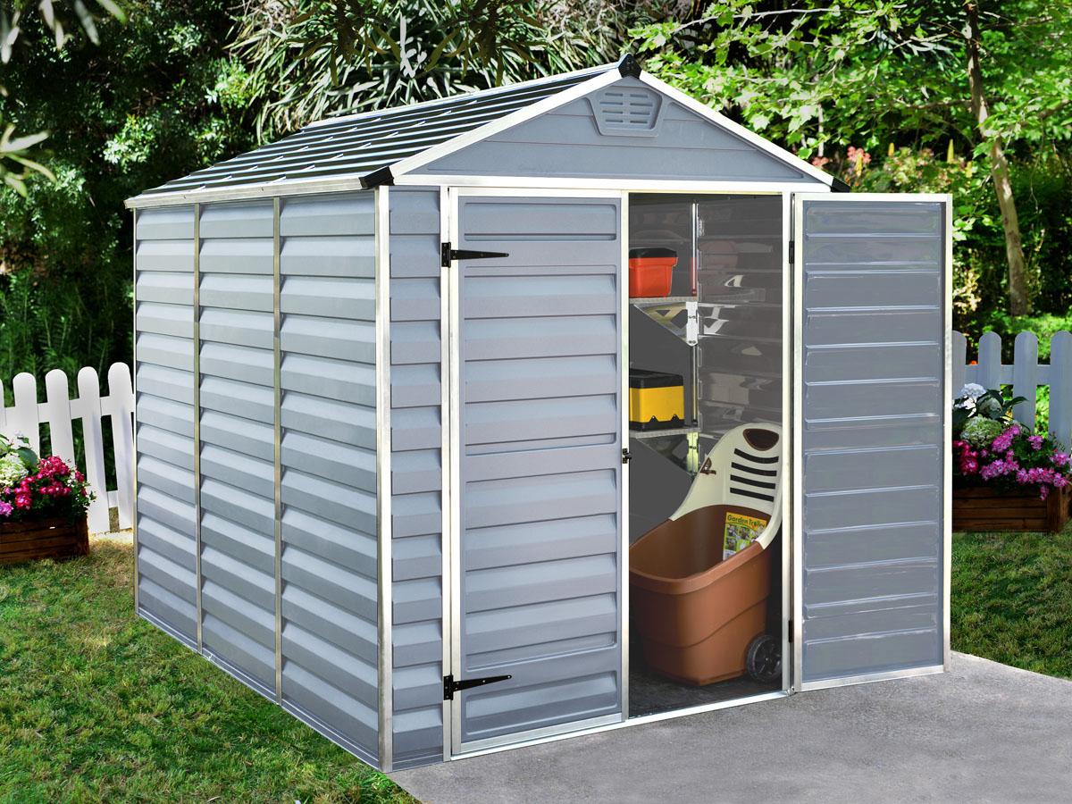 """Abri De Jardin Polycarbonate """"Skylight"""" - 4.25 M² - Gris pour Abri De Jardin Polycarbonate Skylight - 4.25 M2 - Gris"""