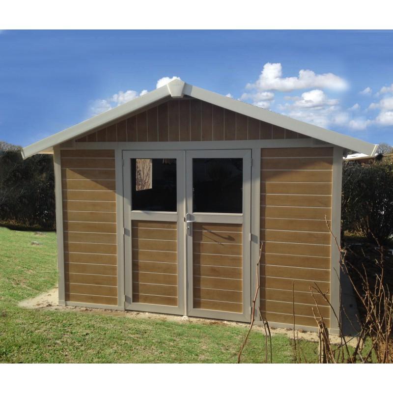 Abri De Jardin Pvc Deco 11,2M² Sherwood Grosfillex + Kit serapportantà Abris De Jardin Grosfillex