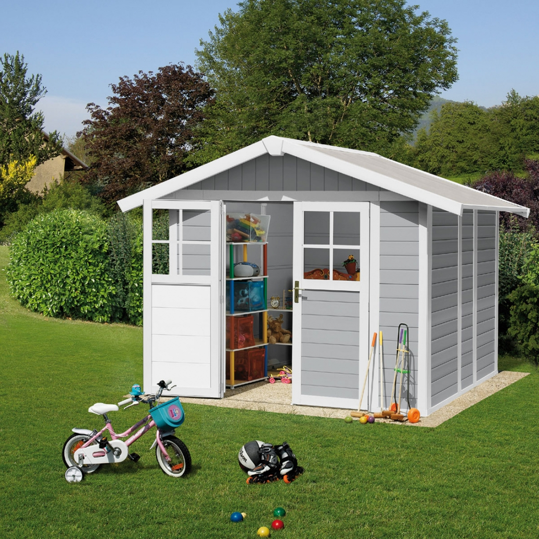 Abri De Jardin Pvc Grosfillex Deco 4,9 - Zendart Design pour Abris De Jardin Grosfillex
