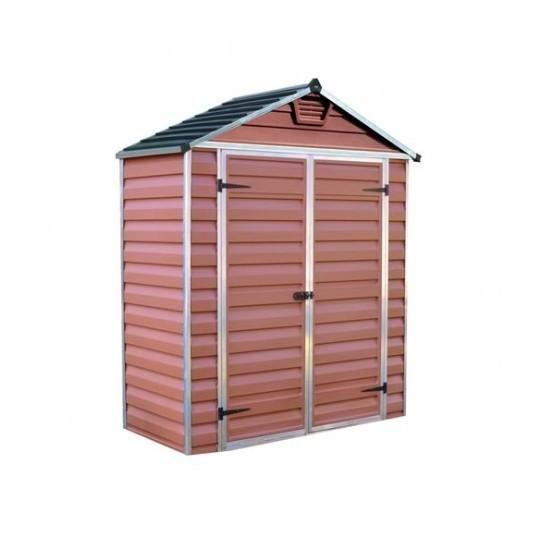 Abri De Jardin Skylight 6X3 Couleur Ambre - 1.7M² - Palram à Abri De Jardin En Longueur