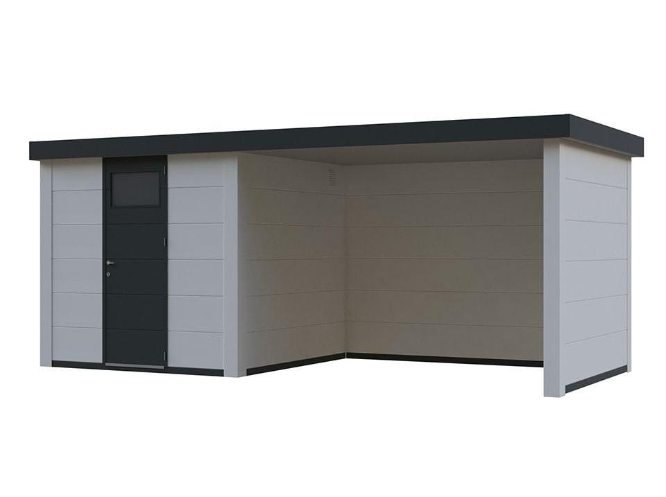 Abri De Jardin Tanos Lounge 12.5M2 - Blanc intérieur Abri De Jardin 5M2 Toit Plat