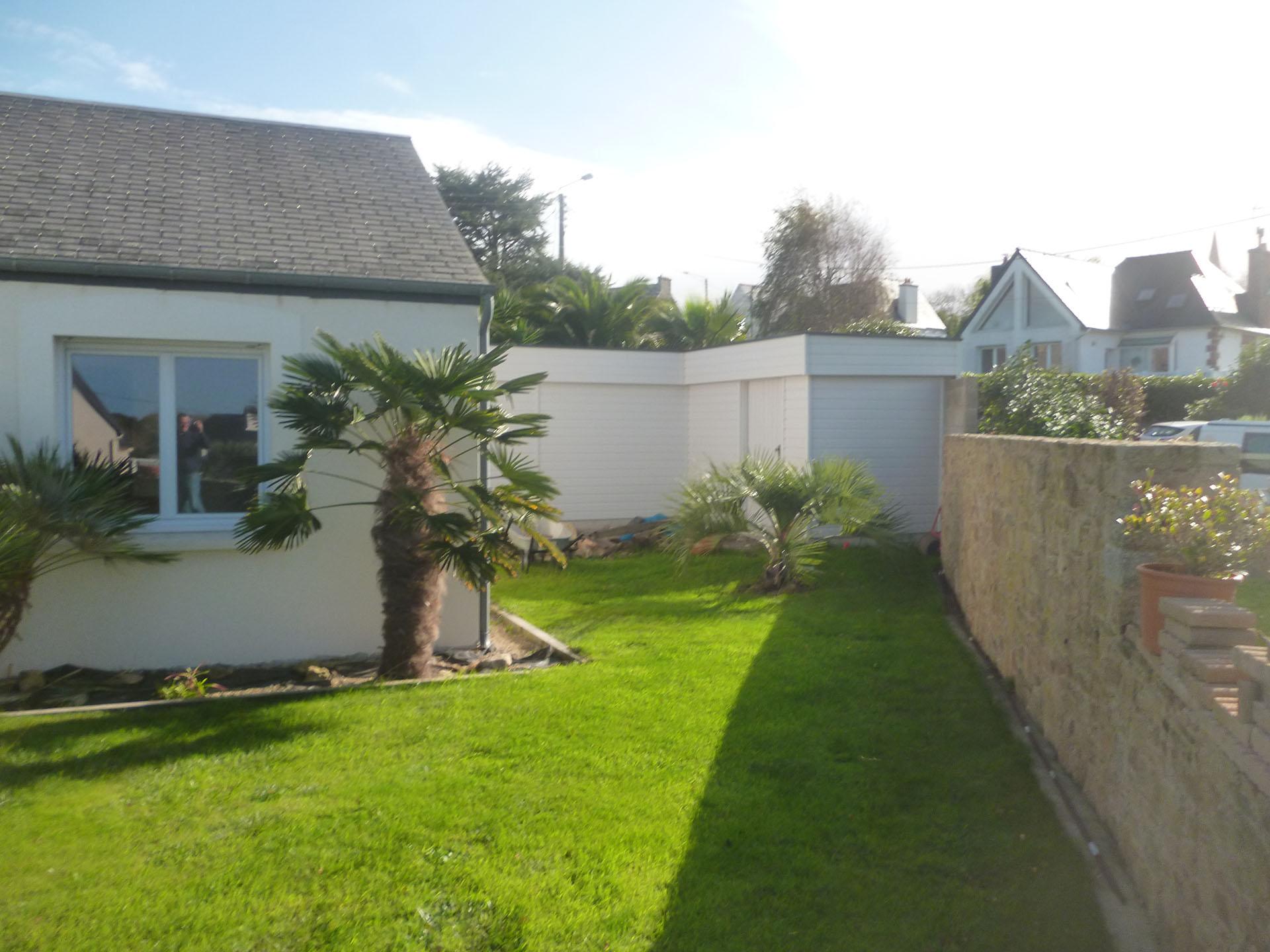 Abri De Jardin Toit Plat Sur Mesure En Bretagne à Abri De Jardin Sur Mesure