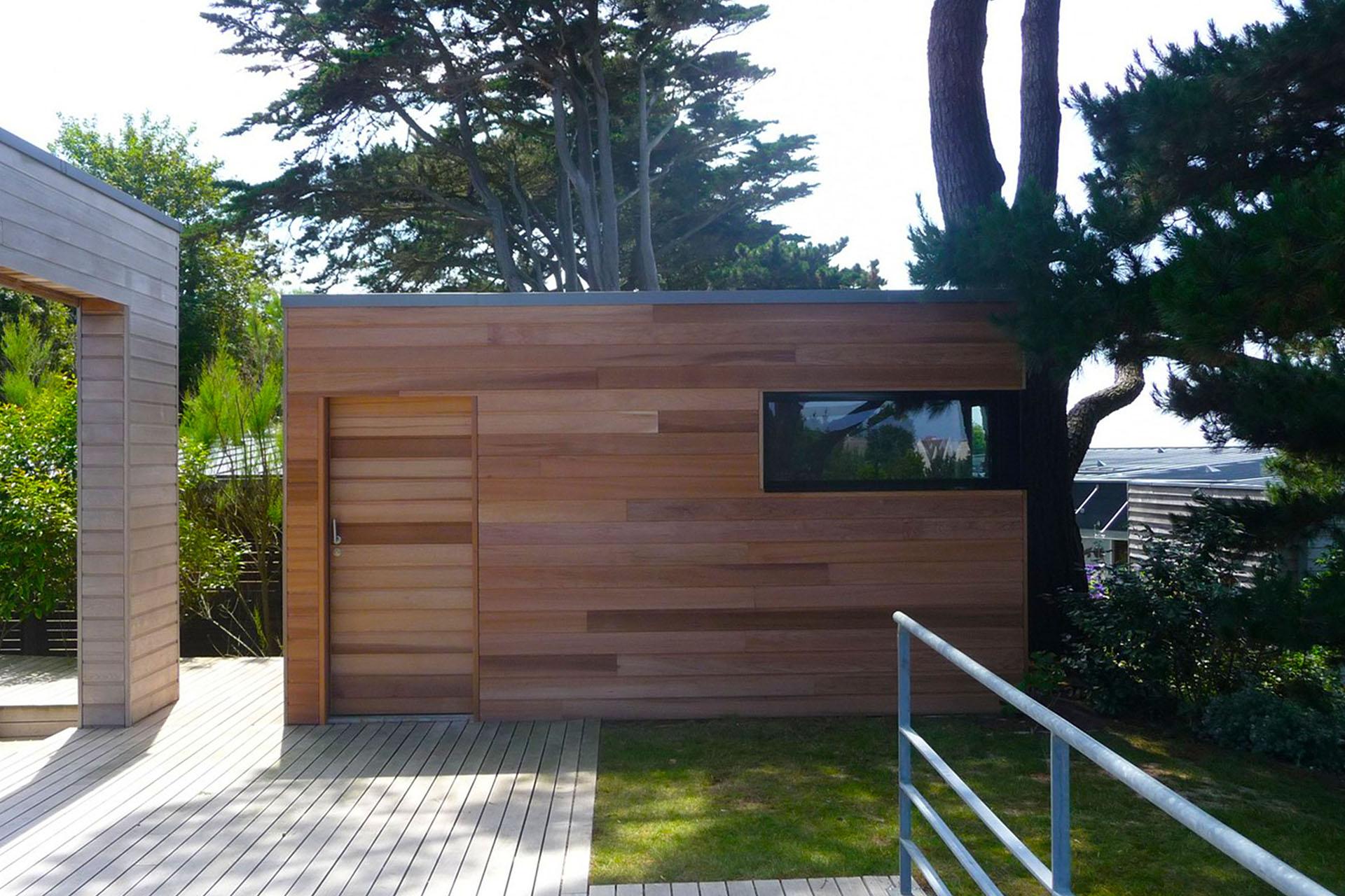 Abri De Jardin Toit Plat Sur Mesure En Bretagne serapportantà Abri De Jardin Toit Plat 5M2