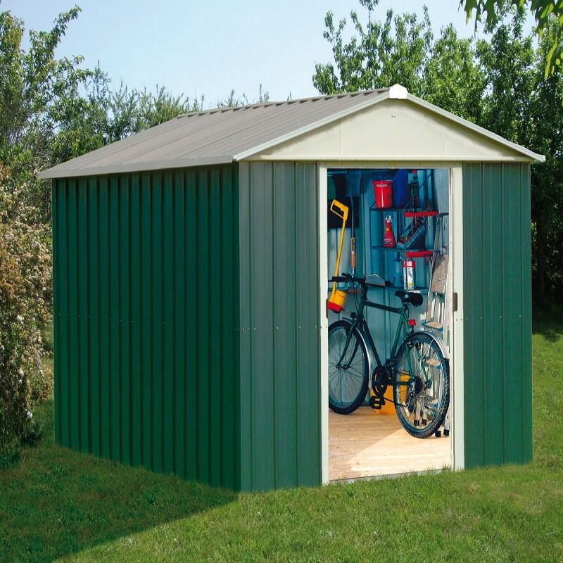 Abri De Jardin Vert Yardmaster 4,38M² En Acier Galvanisé avec Abri De Jardin Galvanisé