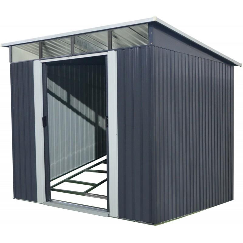 Abri En Métal Anthracite Skylight 5,64M² + Kit D'Ancrage X serapportantà Abri De Jardin Métallique