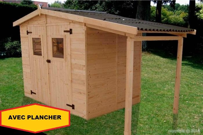 Abri Jardin Bois Bucher 3,48X1,87M 6.50M2 Avec Plancher dedans Abri De Jardin Eden 18M2