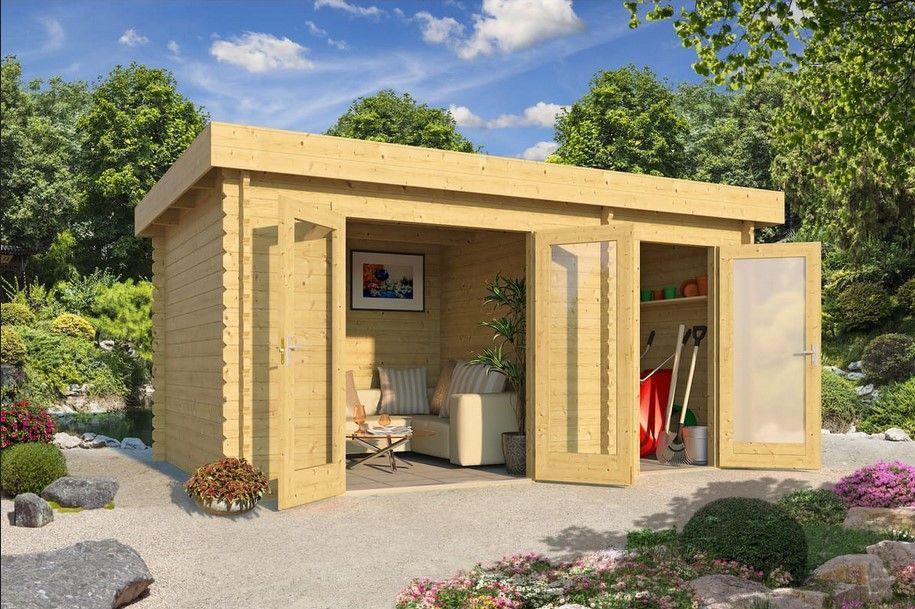 Abri Jardin Bois Onslow Toit Plat 11.21M² Pas Cher - Abri pour Auchan Abri De Jardin