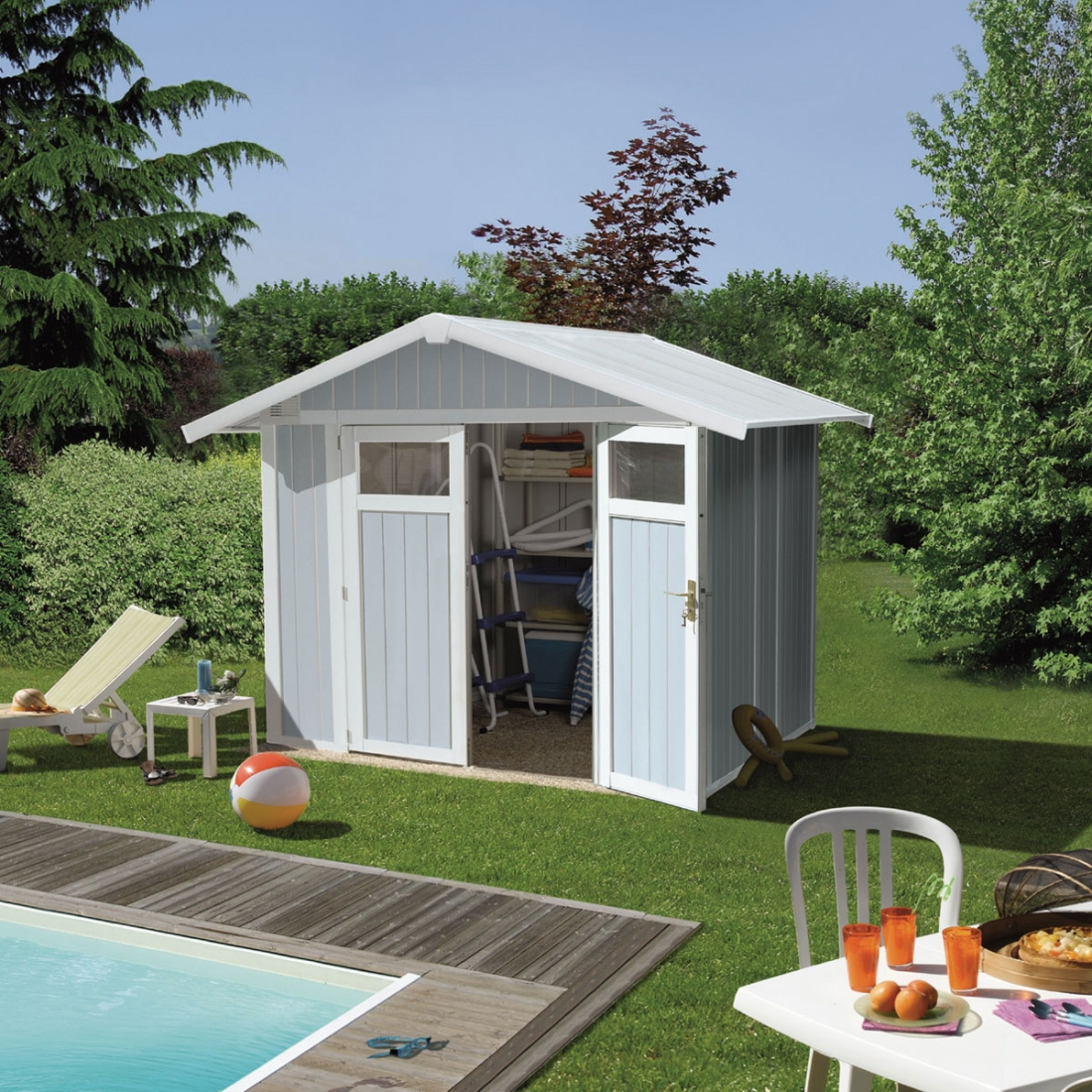Abri Jardin Grosfillex Utility 4,9 - Zendart Design destiné Abri De Jardin Grosfillex
