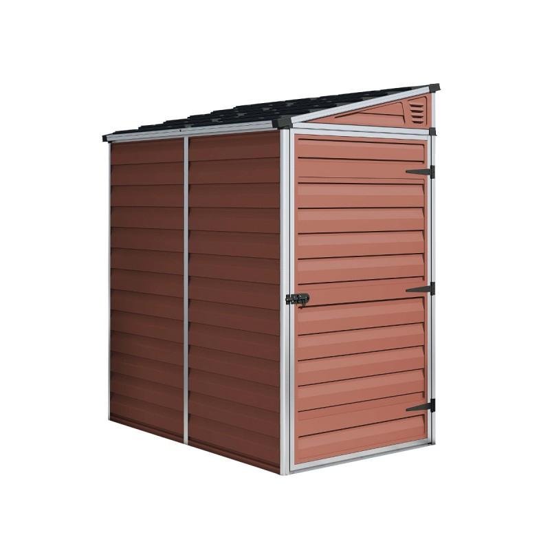 Abri Polycarbonate 2,06M² Monopente Skylight Amber - Palram serapportantà Abri De Jardin Monopente