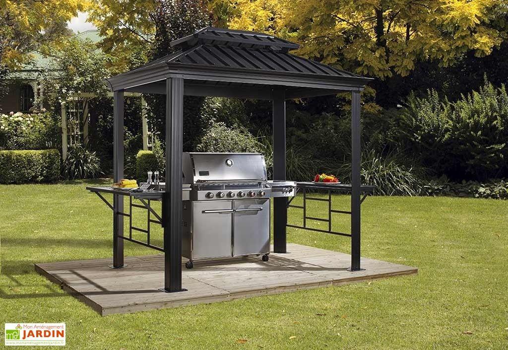 Abri Pour Barbecue Aluminium Et Acier Galvanisé Messina 2 pour Abri De Jardin En Longueur