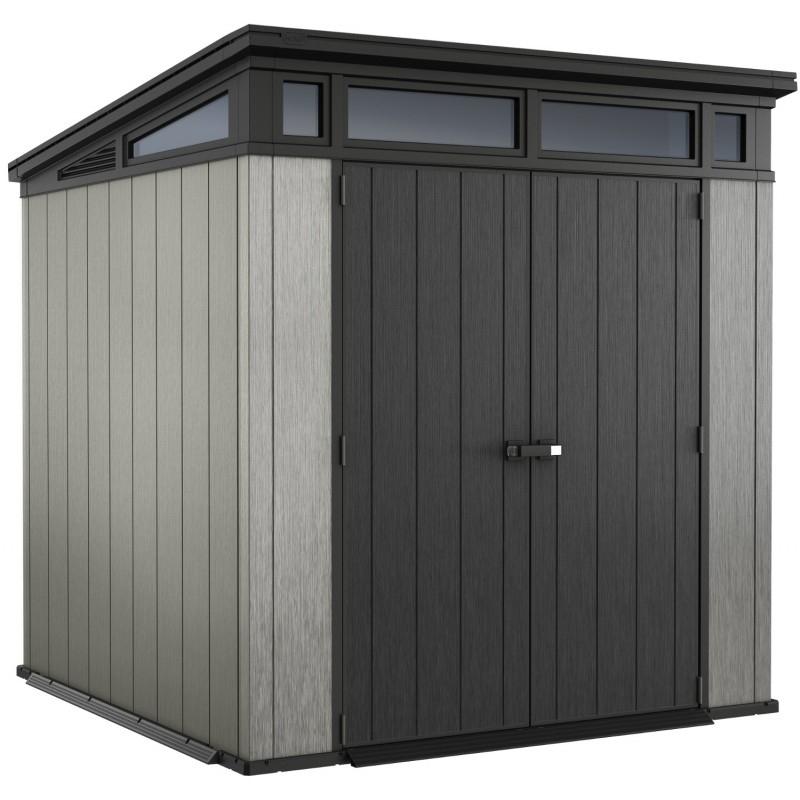 Abri Toit Plat En Résine Brossée Brossium 4,7M² + Plancher pour Abri De Jardin Monopente