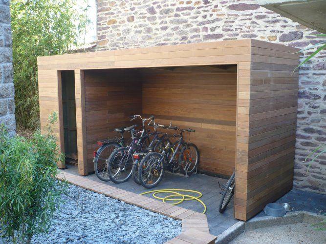 Abri Vélo En Bois | Abri Vélo, Abri Vélo Bois, Vélo Bois intérieur Abris Moto Bois