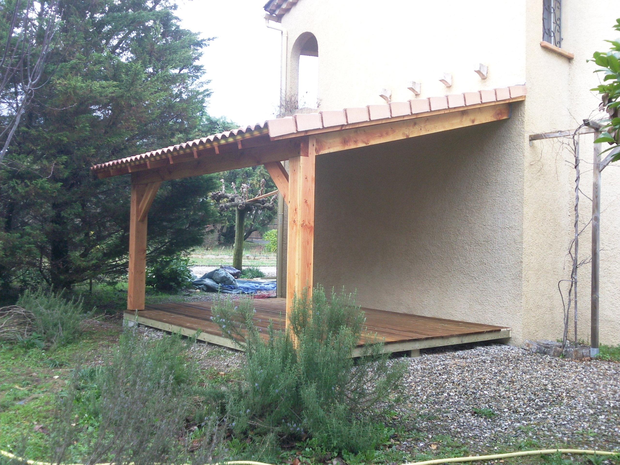 Abris - Boiseco Construction - Maisons A Ossature Bois encequiconcerne Construire Auvent De Terrasse En Bois