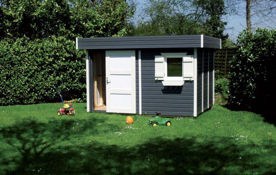 Abris De Jardin Construits En Ossature Bois intérieur Abri De Jardin Toit Plat