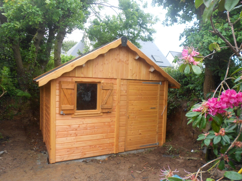 Abris De Jardin En Bois Douglas, Autoclave Sur Mesure intérieur Abris De Jardin Sur Mesure