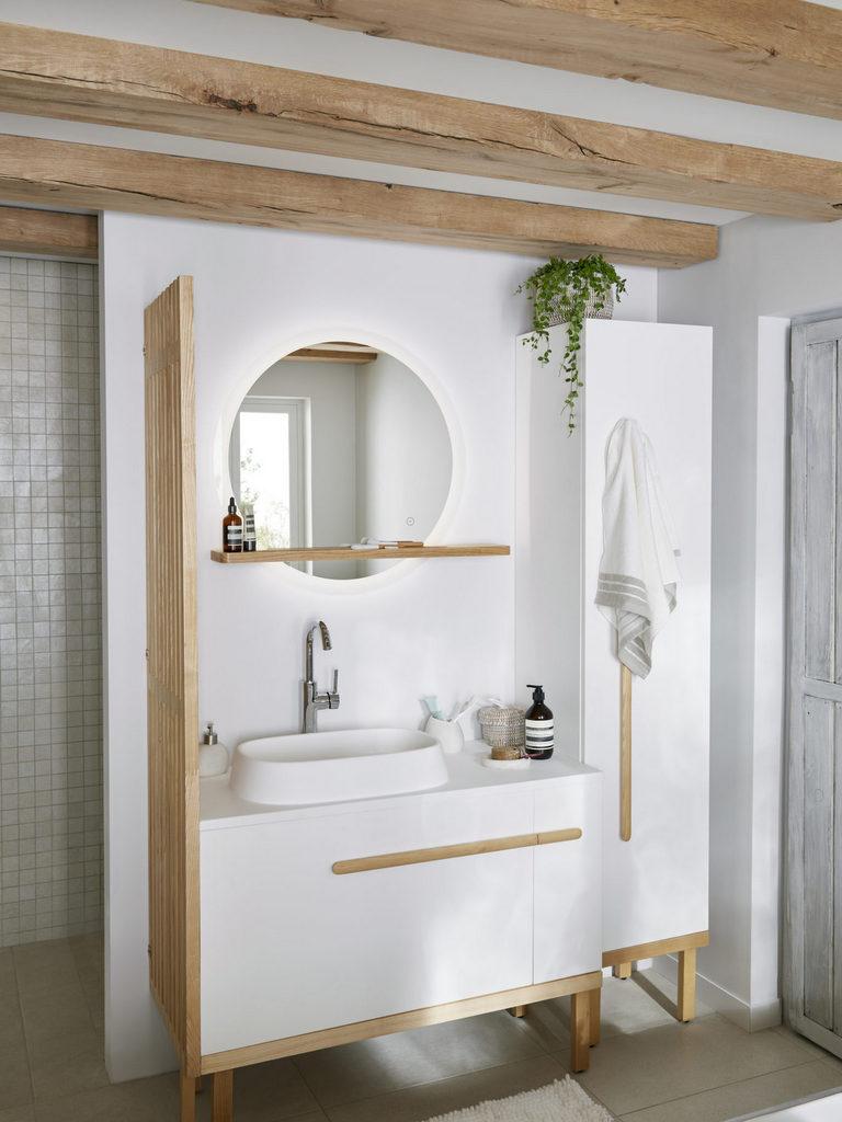 Accessoire Salle De Bain Bois Et Blanc - Novocom.top encequiconcerne Accessoire Decoration Salle De Bain