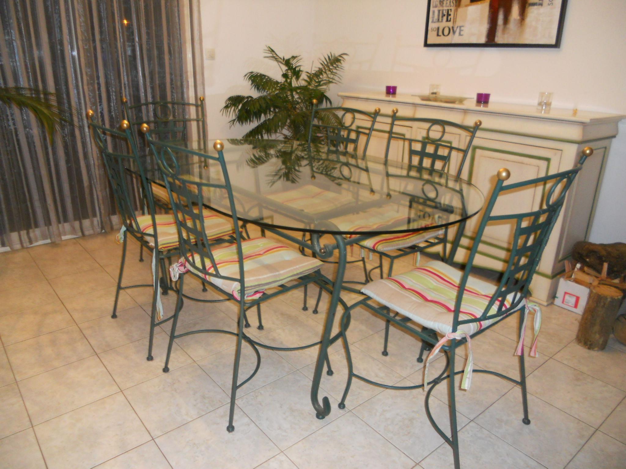 Achetez Salle À Manger Occasion, Annonce Vente À Beaulieu à Table Salle A Manger En Fer Forgé