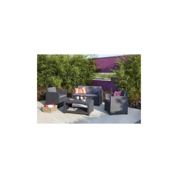 Allibert-Jardin - Allibert Salon De Jardin Monaco 4 Places pour Allibert California Gris