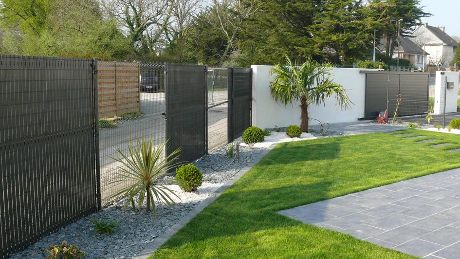 Aménagement De Jardin À Vannes — Granit Paysagistes dedans Jardin Moderne