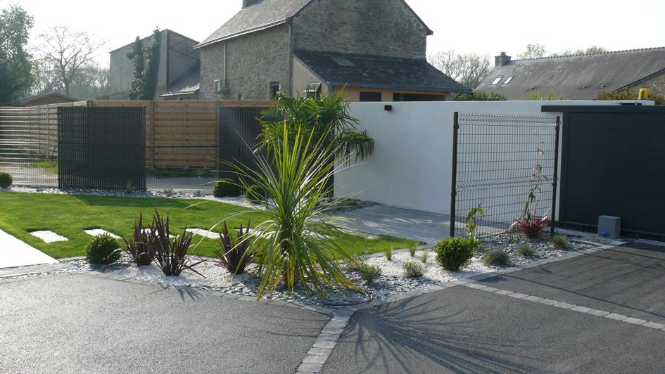 Aménagement De Jardin À Vannes — Granit Paysagistes serapportantà Jardin Moderne