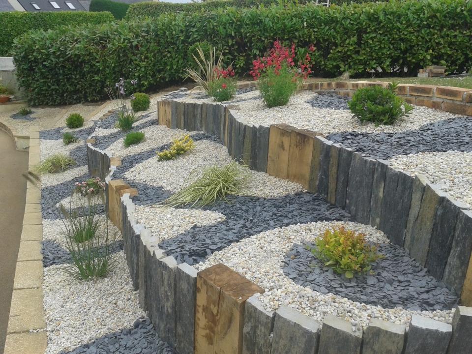 Amenagement Jardin Ardoise concernant Exemple D Aménagement De Jardin