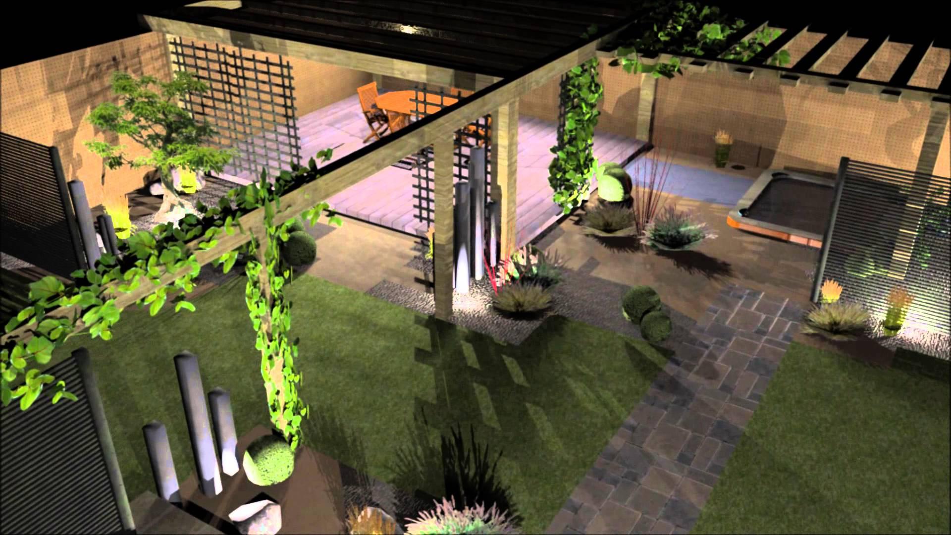 Amenagement Jardin Galets Blancs dedans Logiciel Jardin 3D