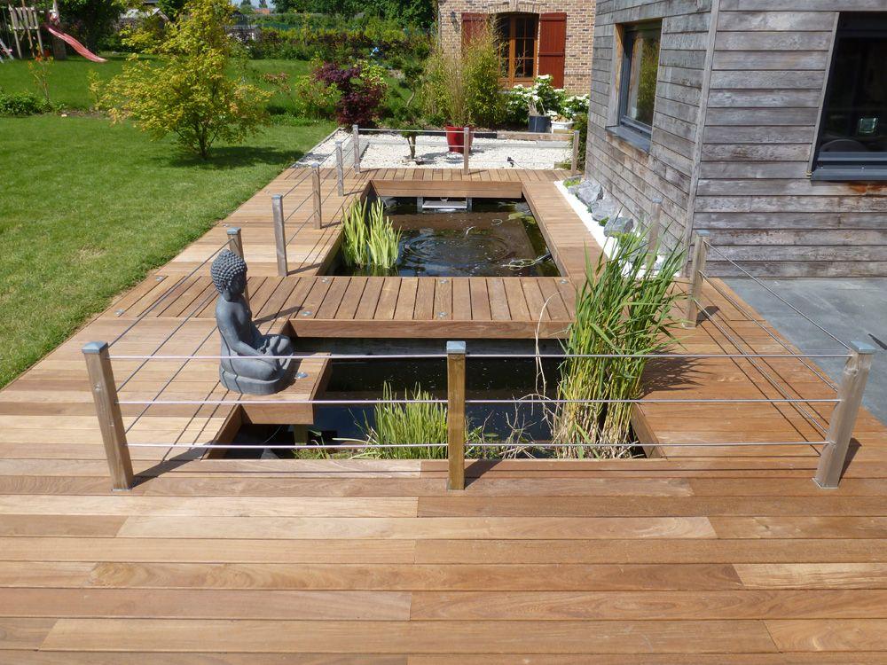Aménagement Jardin, Modification Terrasse, Terrasse En encequiconcerne Construire Auvent De Terrasse En Bois