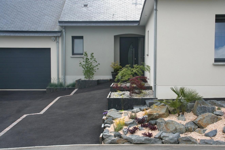 Aménager Parterre Devant Maison Inspirant Amenagement avec Aménagement Allée Entrée Maison