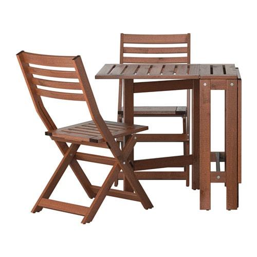 Äpplarö Table+2 Chaises Pliantes, Extérieur - Äpplarö serapportantà Mobilier De Jardin Ikea