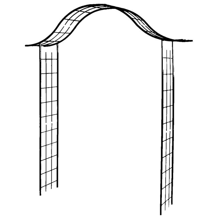 Arceau Portique Avec Treillage : Arches De Jardin Et dedans Arceau Jardin