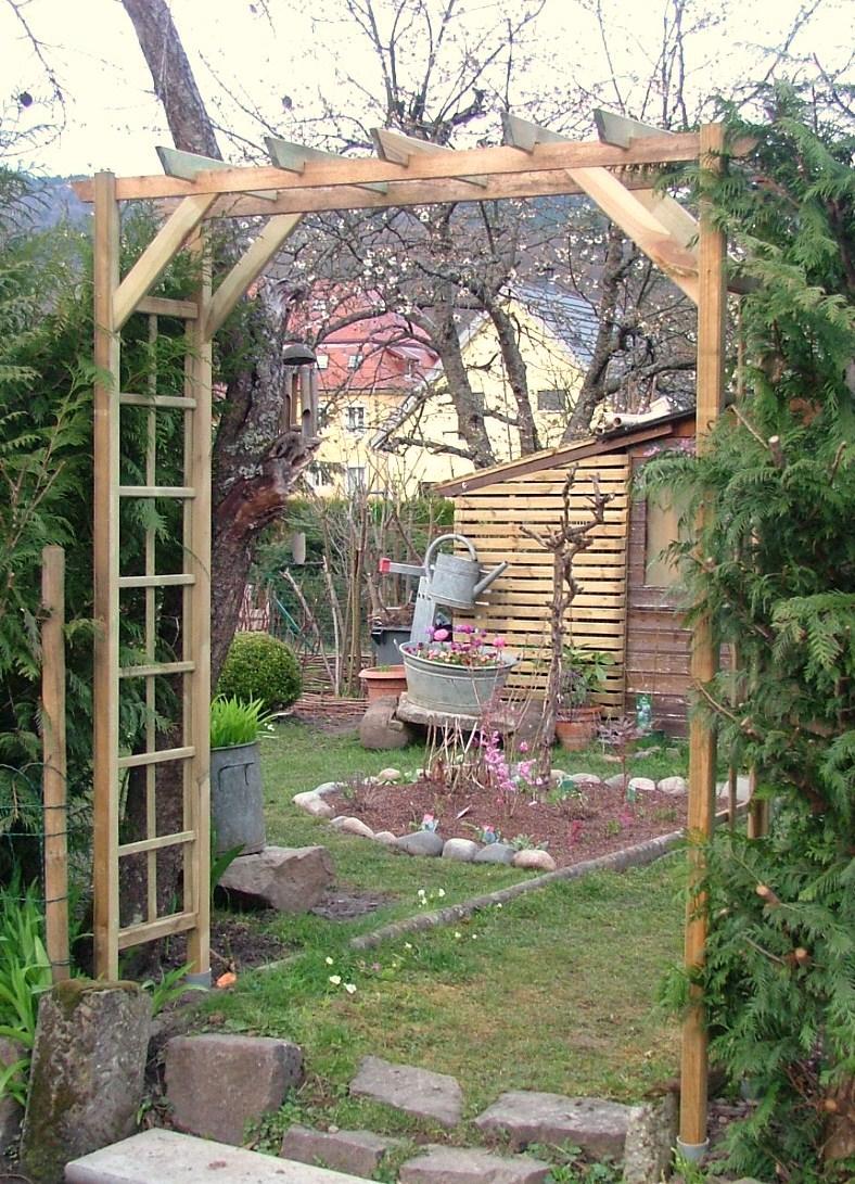Arceau Treillage tout Arche De Jardin En Bois