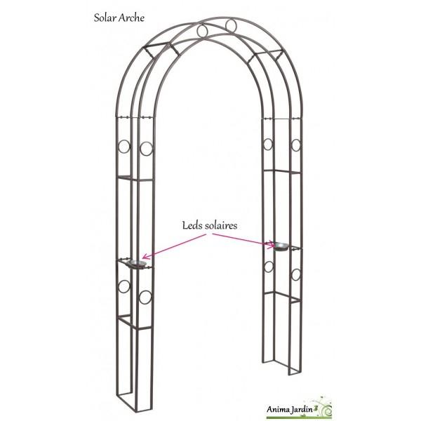 Arche En Métal, Rosier, Avec Leds, Décoration Jardin En avec Arche De Jardin Leroy Merlin