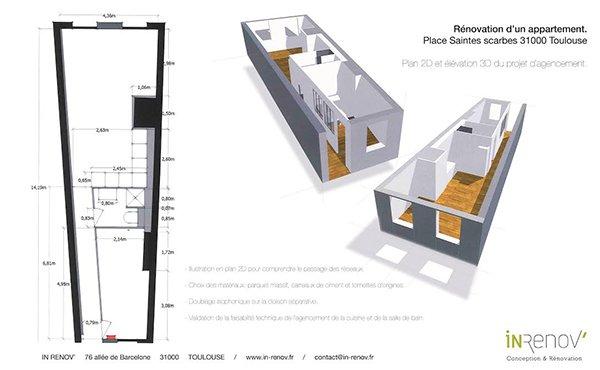 Architecte D'Intérieur À Toulouse - Entreprise In-Renov intérieur Magasin Plomberie Toulouse