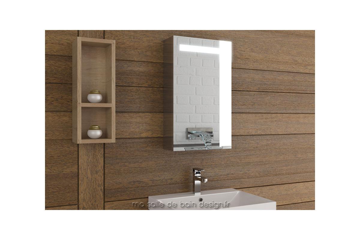 Armoire Miroir Simple Porte Lumineuse Am40 pour Mirroir Salle De Bain