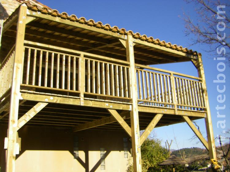 *Artecbois Terrasses En Bois En Hauteur Suspendues Ou Sur encequiconcerne Terrasse Couverte Bois