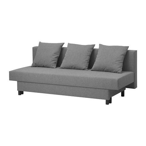 Asarum Three-Seat Sofa-Bed - Grey - Ikea tout Gralviken