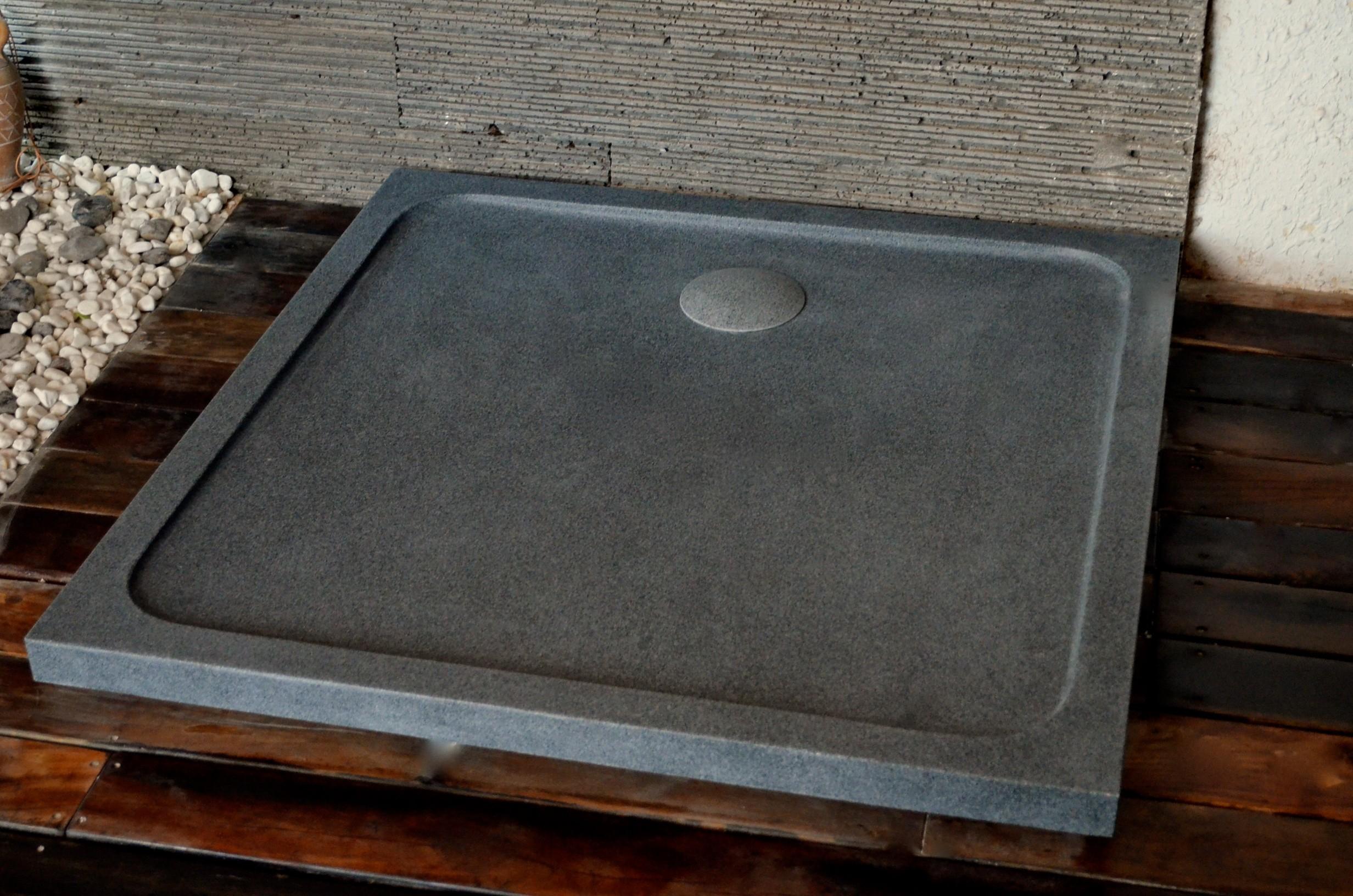 Bac De Douche En Granit 100X100 Pierre Extra Plat Squarium concernant Receveur Douche 100X100