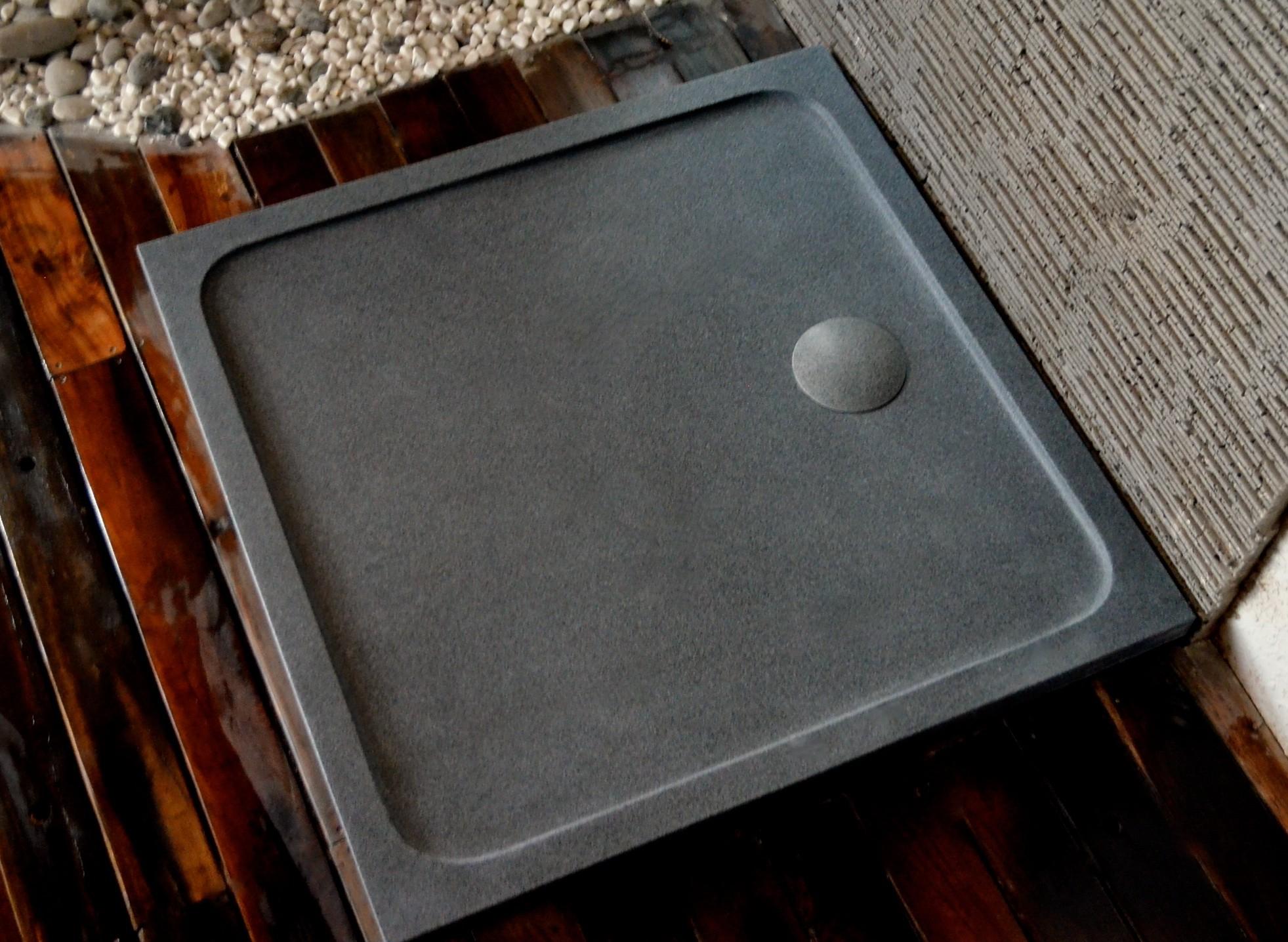 Bac De Douche En Granit 100X100 Pierre Extra Plat Squarium pour Receveur Douche 100X100