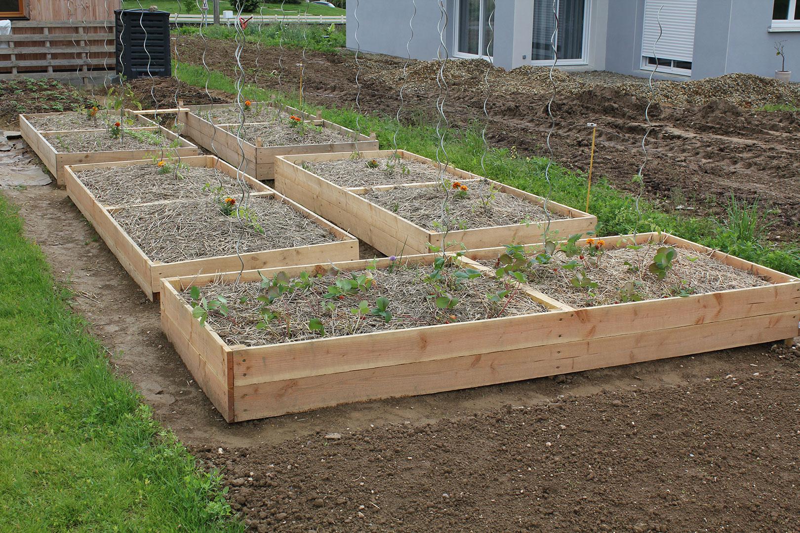 Bac En Bois Pour Jardin - Mobilier De Jardin Sur dedans Carré De Jardin En Bois