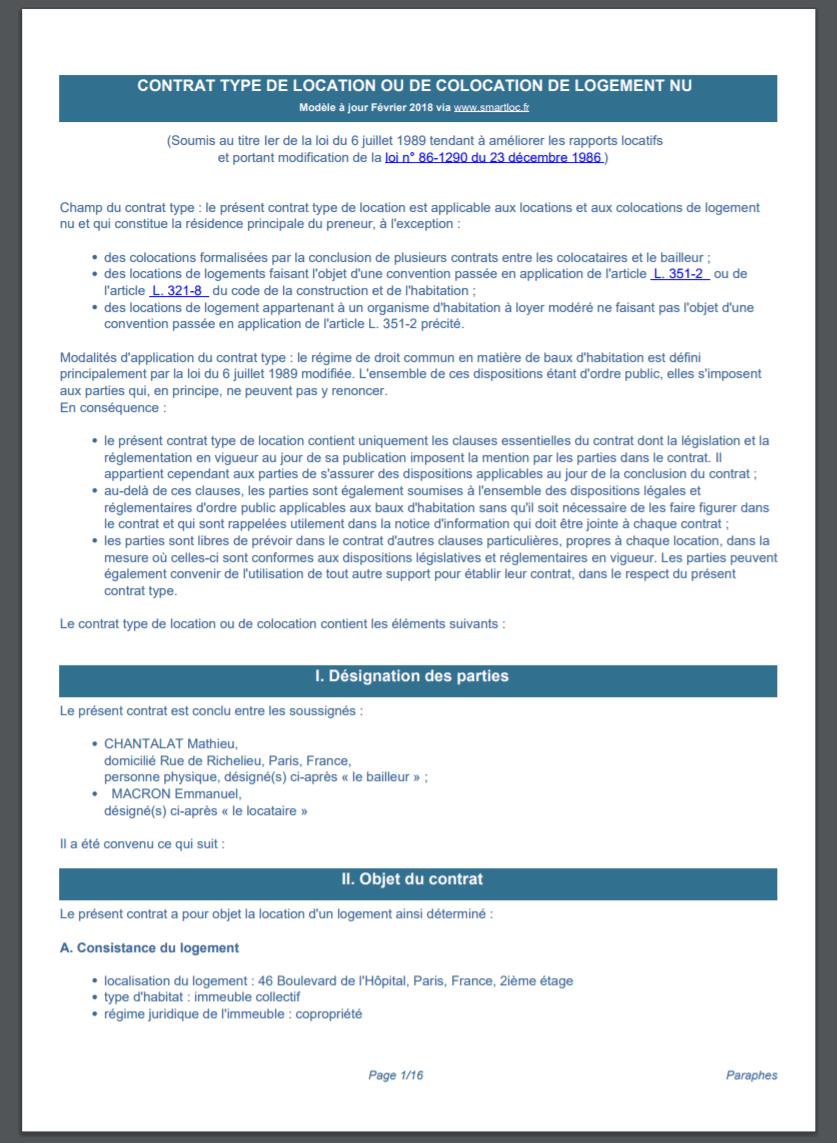 Bail De Location Numérique Gratuit - Modèle Pdf (Loi 2020) concernant Contrat De Location Meublé Gratuit