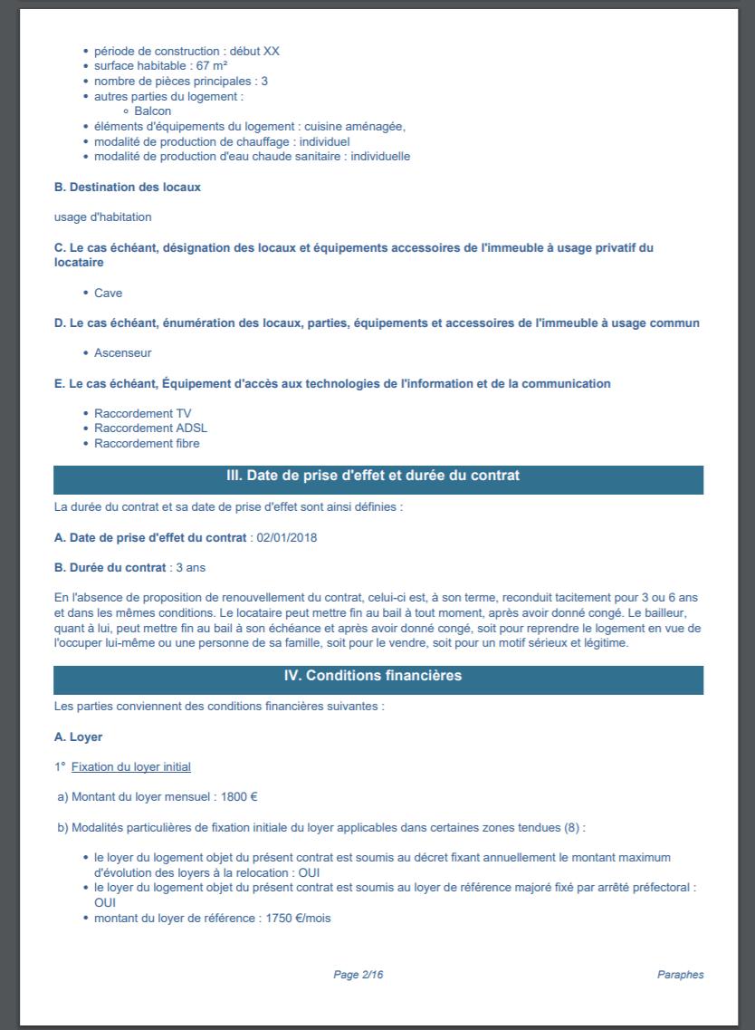 Bail De Location Numérique Gratuit - Modèle Pdf (Loi 2020) serapportantà Contrat De Location Meublé Gratuit