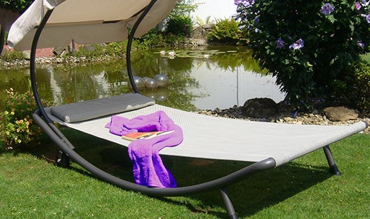 Bain De Soleil Lit De Piscine 1 Ou 2 Places : Confort Haut concernant Lit De Jardin Double