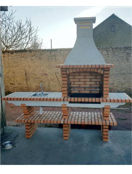 Barbecue À Monter De Jardin Avec Évier Ce4030F-My Barbecue encequiconcerne Evier De Jardin