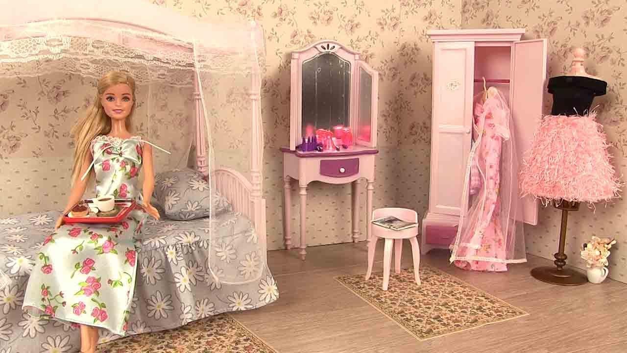 Barbie Chambre Routine Du Matin Barbie Bedroom Morning avec Chambre Des Métiers De L Ain